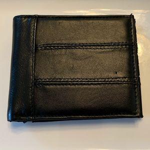 Men's Genuine Leather Bi-Fold Wallet